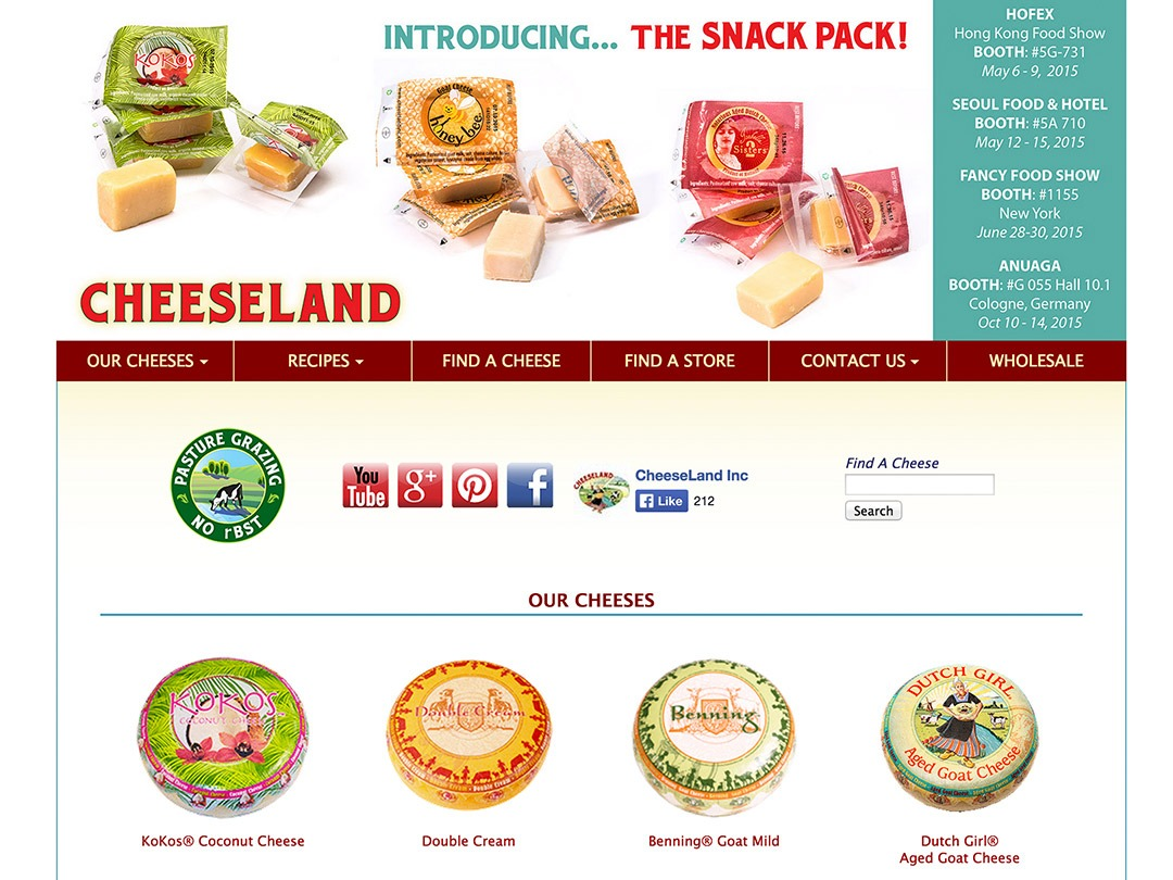 cheeseland website