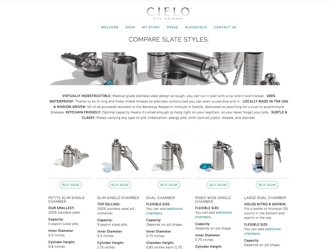 cielo pill holders website