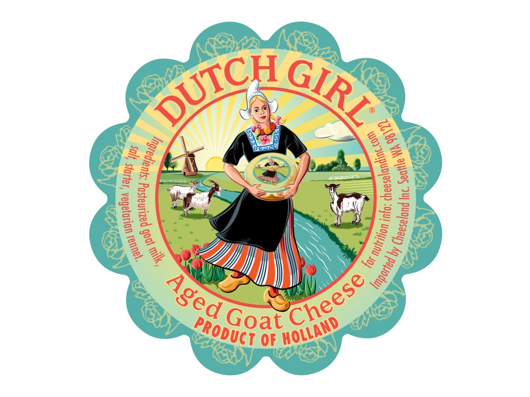 Dutch Girl Aged Goat Cheese Label Design