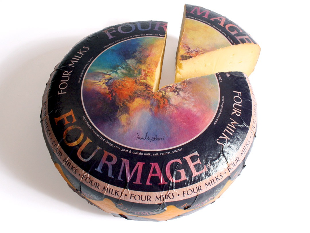 Fourmage - Four Milks Cheese Label Design
