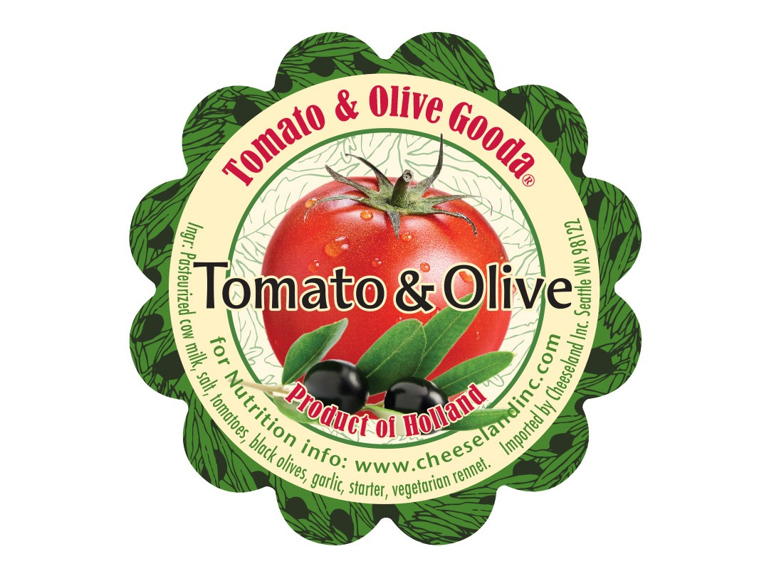 Tomato Olive Cheese Label Design
